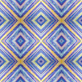 Rhombus abstract tribal seamless pattern. Modern stylish texture. Repeating geometric tiles with rhombus. Textile fabric print. Wr Stock Photography