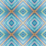 Rhombus abstract tribal seamless pattern. Modern stylish texture. Repeating geometric tiles with rhombus. Textile fabric print. Wr Royalty Free Stock Photography