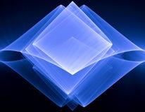 Rhombus acodado azul en un negro Ilustración del Vector