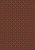 Rhombus anaranjados y beige en fondo negro Foto de archivo libre de regalías