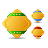 Rhombus blank buttons Royalty Free Stock Photo