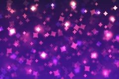 Rhombus borrosos del fondo del bokeh azules, púrpura, rosado, negro, nacimiento ilustración del vector