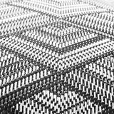 Rhombus braided fabric Stock Image