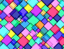 Rhombus city. Rhombus texture vivid colors pattern Vector Illustration