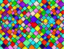 Rhombus city. Rhombus texture vivid colors pattern Stock Illustration