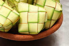 Rhombus of coconut leaf Stock Photography
