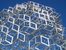 Rhombus Construction. Metal Construction shining in the sun stock photography