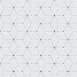 Rhombus a dash monochrome seamless pattern Royalty Free Stock Photography
