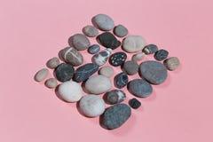 Rhombus de muchas piedras Visi?n superior fotografía de archivo libre de regalías