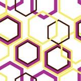 Rhombus del rosa, amarillos y marrones en el fondo blanco stock de ilustración