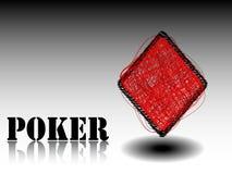 Rhombus do elemento do casino Ilustração Stock