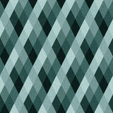 Rhombus fabric. Graphic rhombus on textured striped fabric background. Seamless pattern. Vector illustration Stock Photos