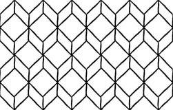 Rhombus hand draw seamless pattern, black lines Stock Photo