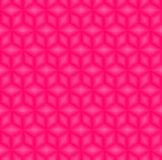 Pink cubes pattern seamless background vectors. Rhombus and hexagon pattern background Vector Illustration