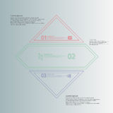 Rhombus infographic template divided to three parts from double outlines Royalty Free Stock Photos