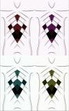 Rhombus kwadratowa coloful geometryczna abstrakcja Obraz Stock