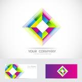 Rhombus logo Royalty Free Stock Photography