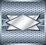 Rhombus metal frame Stock Photos