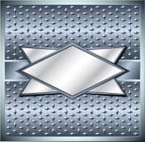 Rhombus metal frame. Rhombus frame with spikes on metal grid Stock Photos