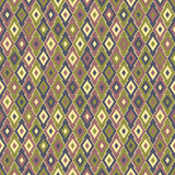 Rhombus pattern. Model with rhombus, brown, green and yellow vector illustration