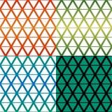 Rhombus pattern four colour theme Royalty Free Stock Image