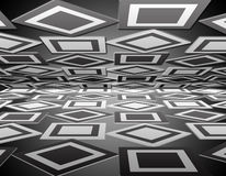 Rhombus perspective background Stock Photography