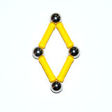 Rhombus. Puzzle fron child constructor parts Royalty Free Stock Images