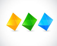 Rhombus Realistic Button for template Stock Photos