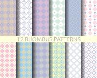 12 rhombus retro różowy geometryczny wzór 2 Zdjęcia Royalty Free
