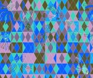 Rhombus and Rudbecky Flowers stock illustration