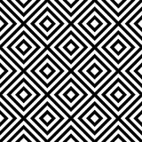 Rhombus seamless pattern in black and white Stock Images