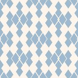 Rhombus seamless pattern. Vector blue and white geometric texture with grid, net