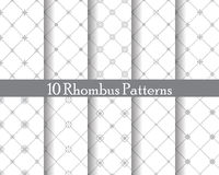 Rhombus seamless patterns Stock Photos
