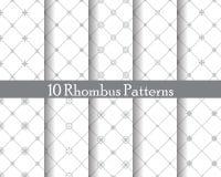 Rhombus seamless patterns Stock Photos