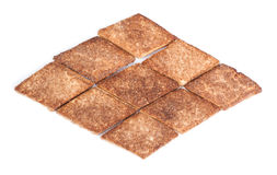 Rhombus shape cookies Stock Photography