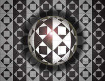 Rhombus sphere Royalty Free Stock Photography