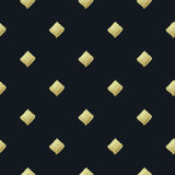 Rhombus texture. Golden paint. Seamless pattern. Royalty Free Stock Images