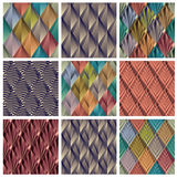 Rhombus tiles. Royalty Free Stock Images