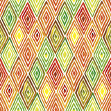 Rhombus watercolor pattern. Hand made watercolor seamless pattern with rhombuses. Abstract geometric background Royalty Free Stock Images