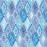 Rhombus watercolor pattern. Hand made watercolor seamless pattern with rhombuses. Abstract geometric background Stock Image