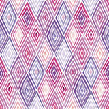 Rhombus watercolor pattern. Hand made watercolor seamless pattern with rhombuses. Abstract geometric background Stock Photo