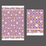 Rhombus y modelo de las flores 60s del amarillo inconsútil Fotos de archivo libres de regalías