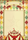Rhombuses circus vintage background. A vintage circus poster with rhombuses for your show Royalty Free Stock Photos
