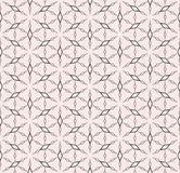 Rhombuses geometric pattern, vector floral seamless texture. Royalty Free Stock Photo