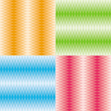 Rhombuses patterns set stock photos
