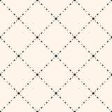 Rhombuses seamless pattern, delicate diagonal grid Royalty Free Stock Photos