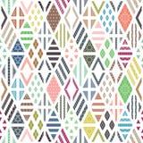 Rhombuses seamless pattern Stock Photos