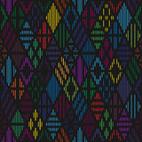 Rhombuses seamless pattern. Royalty Free Stock Images