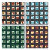 Rhombuses w kwadratów seamles wzorach Zdjęcie Royalty Free