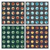 Rhombuses w okregów seamles wzorach Obraz Stock
